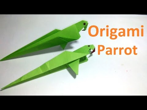 Origami Parrot:Amazing Origami Parrot Making Tutorial|Paper Parrot Bird for beginners making