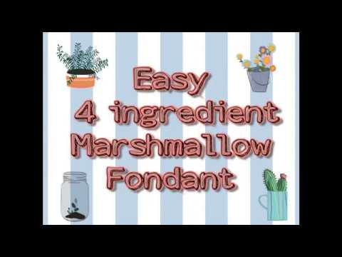 Easy 4 ingredient Marshmallow Fondant or Edible play dough
