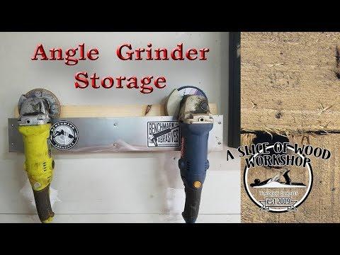 Easy DIY Angle Grinder Storage