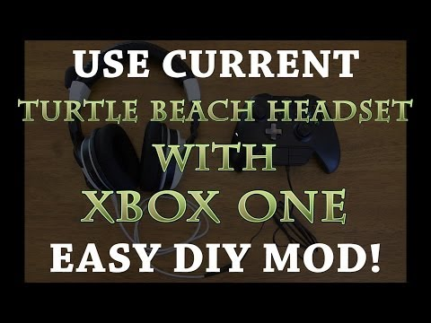 How To: Use Current Turtle Beach Headset with Xbox One! DIY Adapter! MUST SEE!