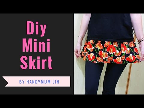 How to diy mini skirt | Easy Sewing Project | 束裤配上一件迷你裙,完美!!!❤❤