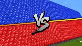 RED VS BLUE 2v2 LUCKY BLOCK WALLS! - Minecraft Mods #2