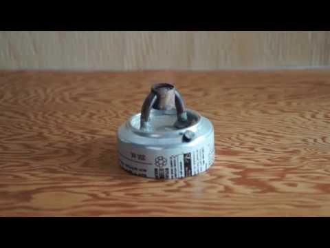 Prototype pressurized alcohol stove