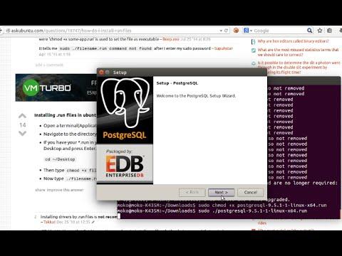 Install latest Postgresql + Pgadmin from .run file - Ubuntu