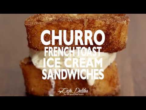 Churro French Toast Ice Cream Sandwiches