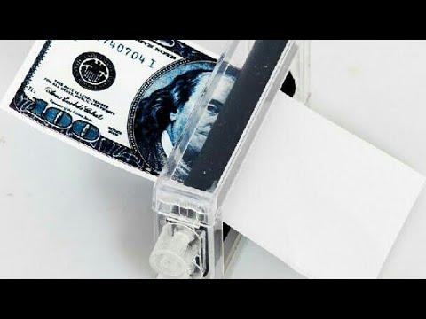 .كيف تصنع طابعة المال من ادوات منزلية بسيطة