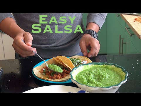 Easy salsa verde recipe less than 5 minutes to make