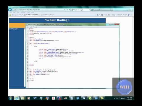 Video4: CSS 3 Column Web Page with Horizontal Links
