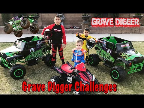 GRAVE DIGGER CHALLENGES and MONSTER TRUCKS RACING