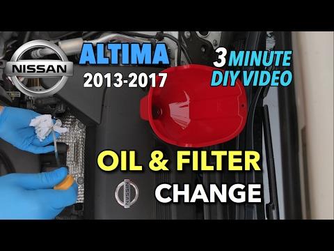 Nissan Altima Oil & Oil Filter Change 2013-2017