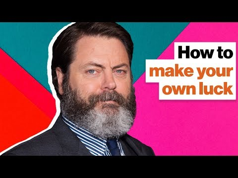 Nick Offerman defines good luck—and how to make your own