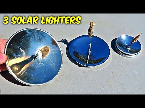 3 Solar Survival Lighters