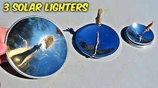 3 Solar Survival Lighters