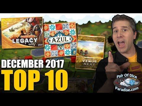 Top 10 most popular board games: December 2017