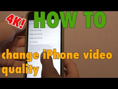 How to change iPhone Video Resolution & FPS! [4K]