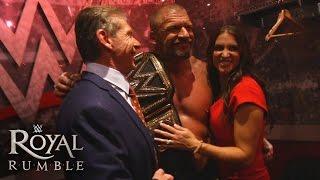 The McMahon family celebrates Triple H