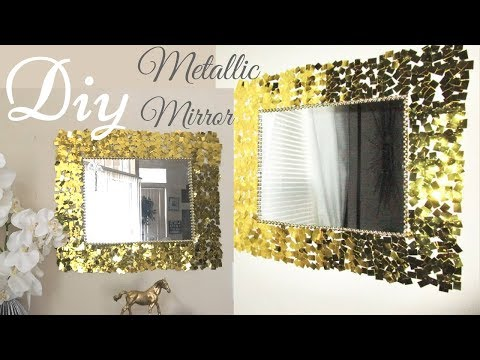 Diy Metallic Gold Wall Mirror Decor Easy Craft Idea For Creating an Awesome Wall Decor