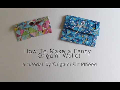 How to Make a Fancy Origami Wallet