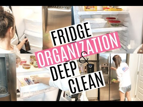DEEP CLEAN AND ORGANIZE WITH ME 2018 // FRIDGE ORGANIZATION // SPRING CLEANING 2018 pt 1