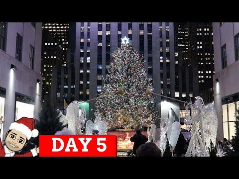 ROCKEFELLER CHRISTMAS TREE AND TOP OF THE ROCK AT NIGHT | VLOGMAS