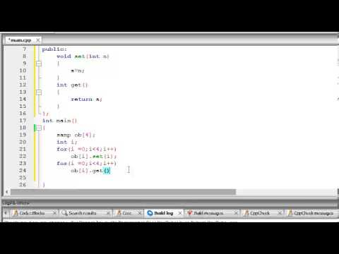 C++ Tutorial 34 - Arrays of Objects