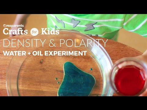 Simple Oil and Water Experiment | PBS Parents | Crafts for Kids