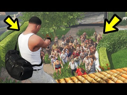 SAVING MICHAEL'S HOUSE FROM ZOMBIES!! (GTA 5)