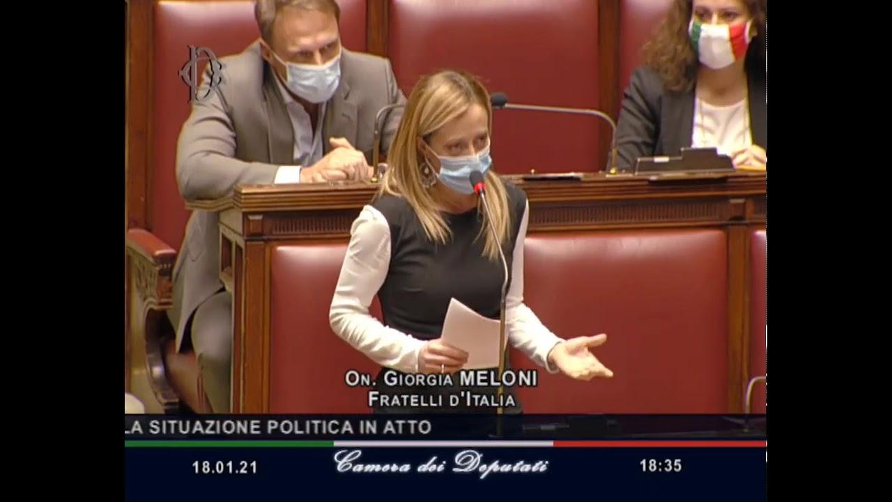 Giorgia Meloni in diretta alla Camera: Il Governo Conte ha fallito. Elezioni subito. Fate girare!