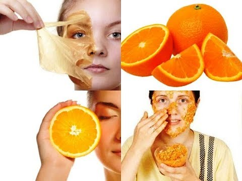 How to do orange facial at home and get clear glowing flawless skin or vitamin c facial at home