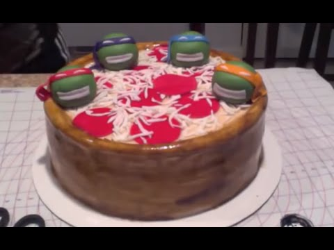 Pizza Cake for Ninja Turtles