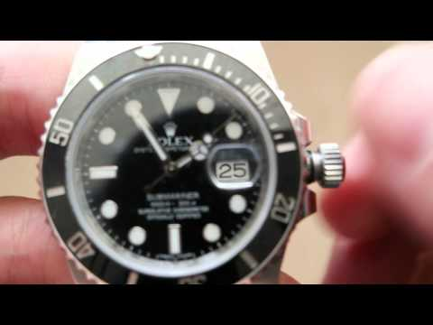 Setting time and date on Rolex submariner