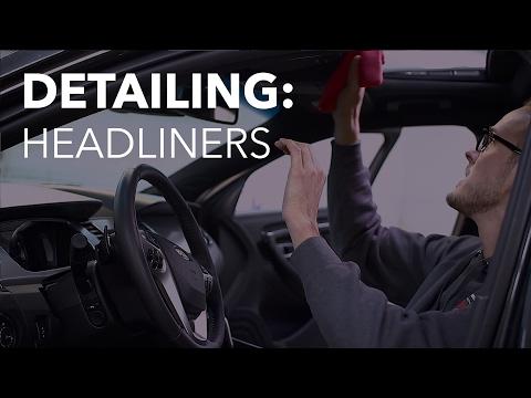 Interior Detailing   Vehicle Headliner Cleaning
