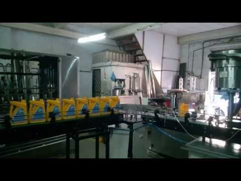 Fully Automatic Lube Oil Labeling Filling Capping & Sealing Machine