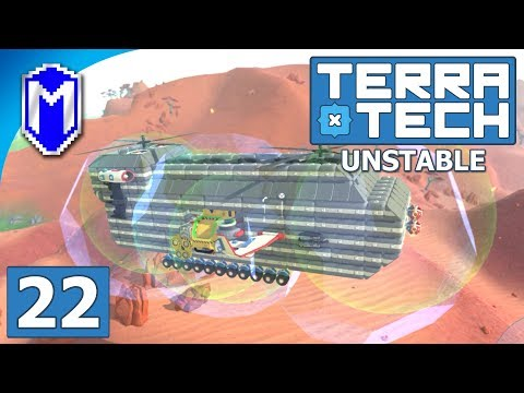 TerraTech - The Helicopter Scrapper Base, Flying Base - Lets Play TerraTech Unstable Gameplay Ep 22