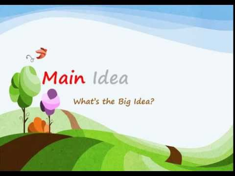 How to Find the Main Idea