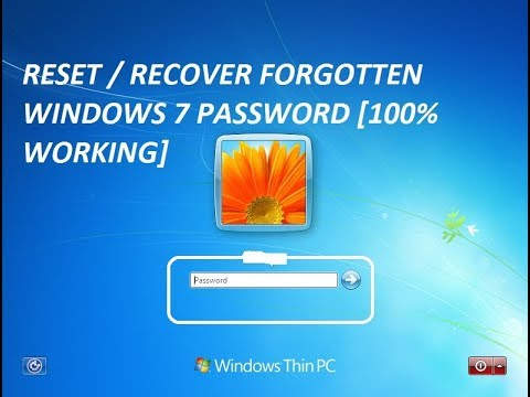 How to reset / recover windows 7 forgotten password [100% Working]