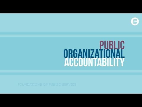 Public Organizational Accountability