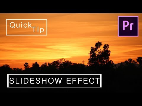How To Make Images Move in Premiere Pro // Slideshow Effect