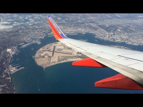Southwest Airlines 737-700 Pushback, Taxi, Takeoff from San Diego