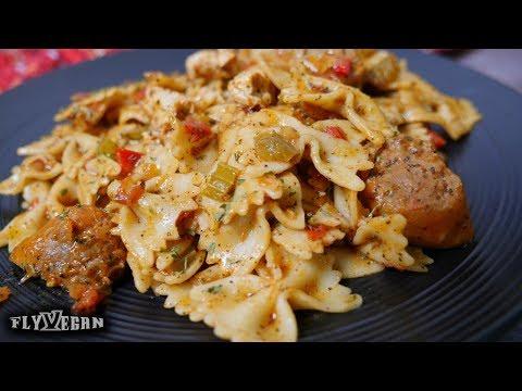 Vegan Jambalaya Pasta (Beyond Meat Sausage)