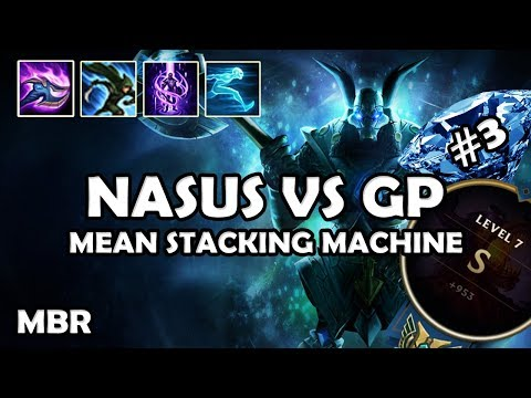 Galactic Nasus Vs GangPlank | 450 Stacks In 20 Minutes | Road To Diamond #3