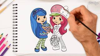 Strawberry Shortcake Coloring Pages How To Draw Learn Colors With Strawberry Shortcake Berry Bitty