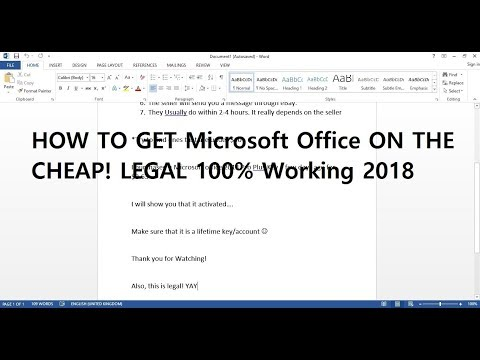 HOW TO GET MICROSOFT OFFICE CHEAP! 2018 WORKS... LEGAL!