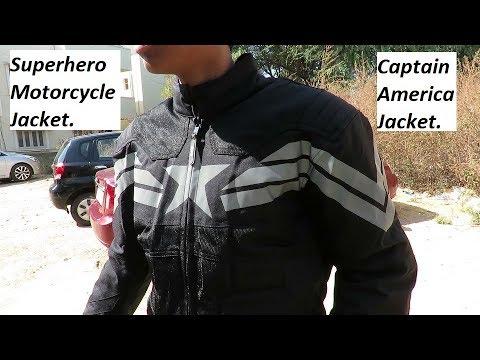Superhero Motorcycle Jacket. Captain America Jacket REVIEW.