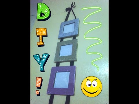 DIY Hanging Cardboard Picture Frames (A.S.M. PRODUCTION)