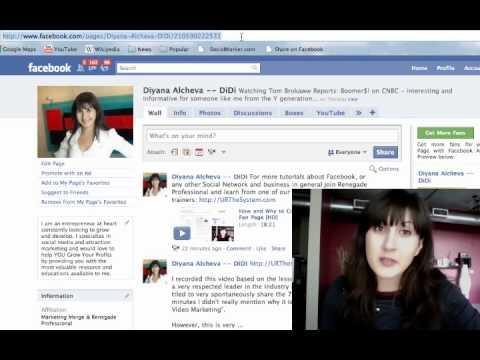 Facebook Fan Page Short Customized URL