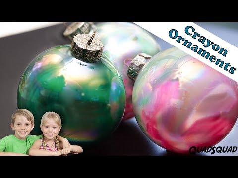 Melted Crayon Christmas Ornaments - DIY - Craft Time with Ashley