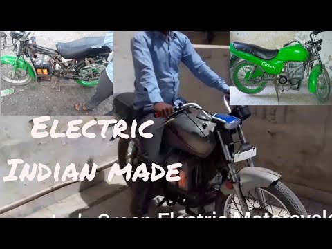Electric motorcycle Powerful GREEN running at high speed Part-4