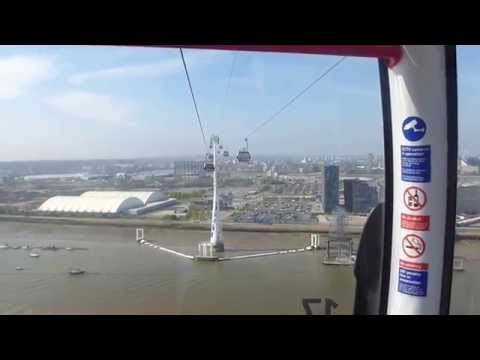 FROM DOCKLANDS EXCEL TO O2 ARENA LONDON BY EMIRATES AIR LINE