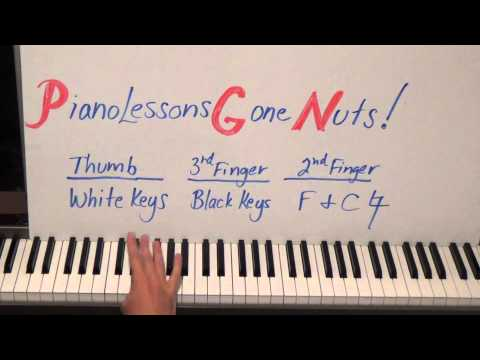 Piano Lessons Gone NUTS! How To Play A Chromatic Scale Easier Faster Better